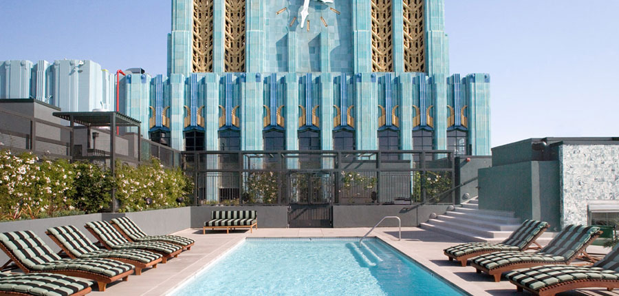 The Kor Group's historic rehabilitation of a former department store into a loft residence project included the addition of a pool, spa and fitness center.