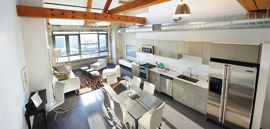 Barker Block is a loft renovation in the downtown Los Angeles Arts District currently managed by The Kor Group.